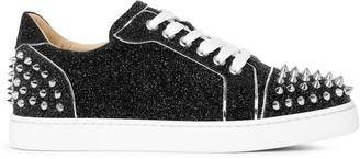 Christian Louboutin Vieira 2 black glitter leather sneakers