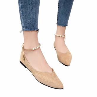 95 Women's Ballet Flats Flat Bridal Shoes Summer Shoes Pumps Slip-on Bridal Shoes Women Closed Toes Mary Jane Block Heel Pumps Wedding Bridal Shoes Shoes Summer Shoes - Multicolour - One Size