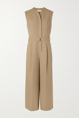 LVIR Belted Cotton Jumpsuit - Camel