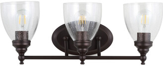 Jonathan Y Designs Marais 22.5In 3-Light Metal Glass Led Wall Sconce