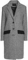 Maje Houndstooth Wool-Blend Coat