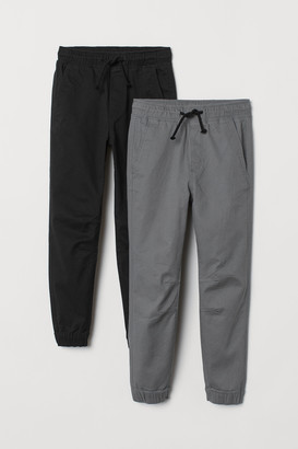 H&M 2-pack Twill Joggers