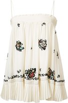 Derek Lam 10 Crosby embroidered top - women - Silk - 4