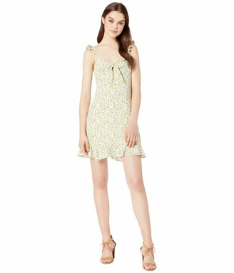 ASTR the Label Women's Marla Sleeveless Lemon Print A-Line Short Dress