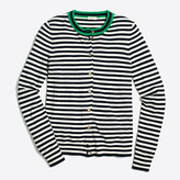 J.Crew Factory Tipped stripe Caryn cardigan sweater