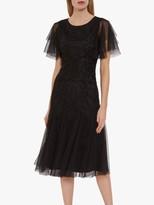 Gina Bacconi Ciela Beaded Midi Dress, Black