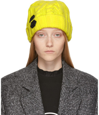 Off-White Yellow Knit Pop Color Beanie