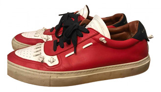 Givenchy Red Leather Lace ups