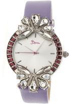 Boum Precieux BOUBM4204 Women's Silver and Lavender Leather Analog Watch