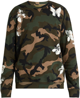 Valentino Camouflage and floral-print sweatshirt