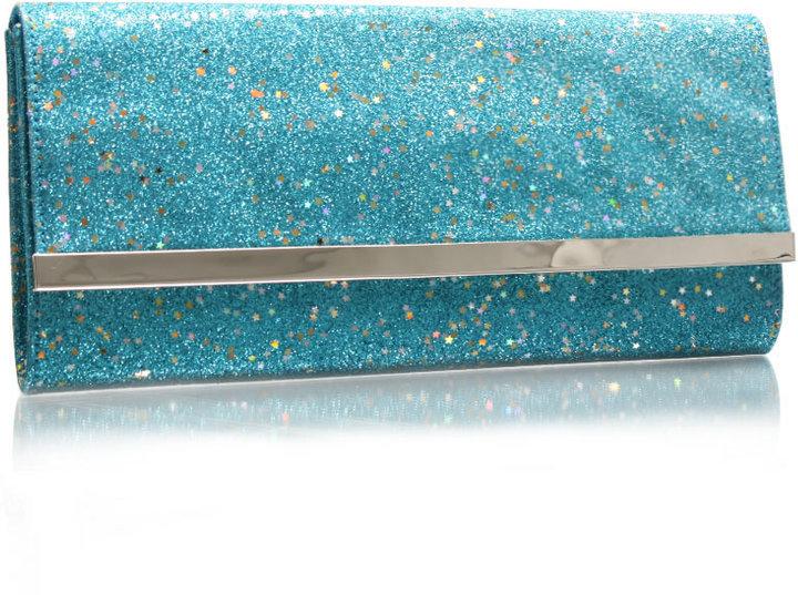 Asos Glitter and Star Bar Hard Clutch Bag