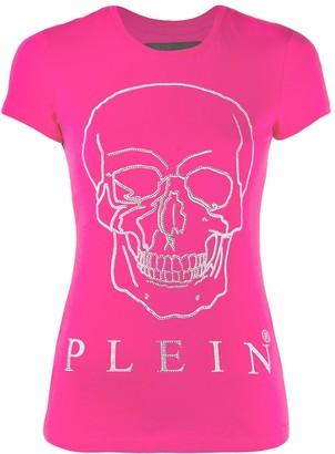 Philipp Plein embellished skull print T-shirt