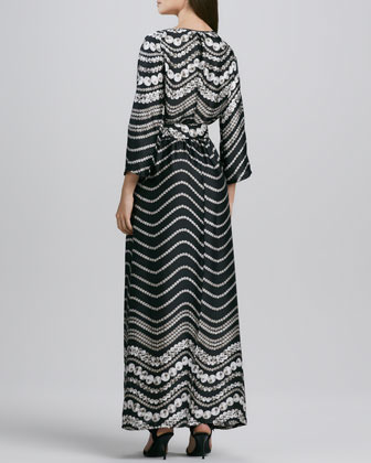 Melissa Masse Printed Maxi Dress