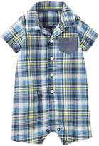 "Carter's Baby Boys' ""Patched Plaid"" Romper"
