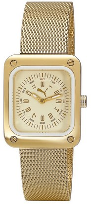 Puma Time Women's Quartz Watch Frame Metal Gold PU102562003 with Metal Strap
