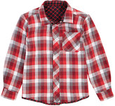 Petit Lem Red Plaid Convertible Button-Up - Toddler & Boys