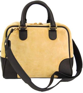 Loewe Beige/Brown Leather And Suede Amazona 75 Bag