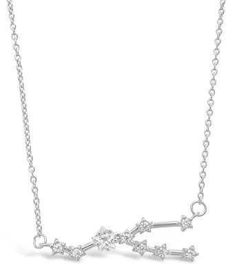 Sterling Forever Delicate Constellation CZ Taurus Zodiac Pendant Necklace