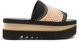 Stella McCartney Wave-mesh platform slides