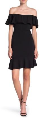 Max & Ash Ruffled Off-the-Shoulder Mini Dress