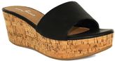 Fashion Focus Black Bee Wedge Sandal