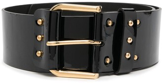 Saint Laurent Patent Leather Corset Belt