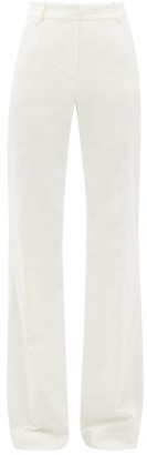 Bella Freud David Wide-leg Cotton-velvet Trousers - Womens - White