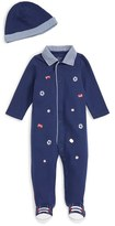 Little Me Infant Boy's 'Sports' Footie & Hat Set