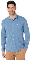 Dockers Long Sleeve 360 Ultimate Button-Up Shirt (Blue Brine) Men's Clothing