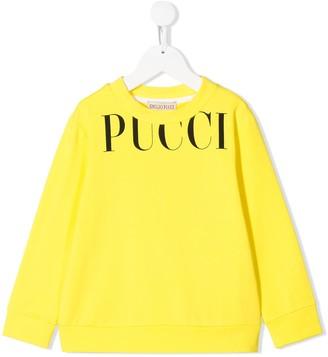 Emilio Pucci Junior Logo Print Sweatshirt