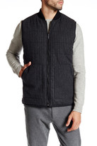 Kenneth Cole New York Channel Quilted Reversible Wool Blend Vest