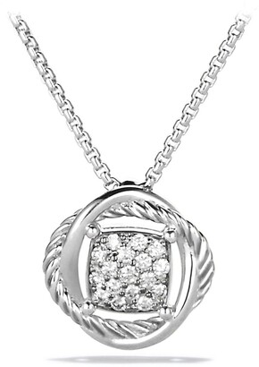 David Yurman 'Infinity' Pendant with Diamonds on Chain