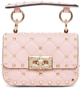 Valentino Pink Garavani Micro Rockstud Spike Bag