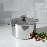 Crate & Barrel Le Creuset ® Signature 4 qt. Stainless Steel Casserole with Lid