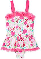 Penelope Mack 1-Pc. Pretty Ballerina Floral-Print Swimsuit, Toddler Girls (2T-4T) & Little Girls (2-6X)