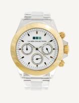 La Mer Gold Bezel / White Dial Carpe Diem Watch.