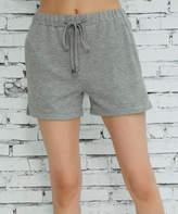 Z Avenue Women's Casual Shorts Light - Heather Gray Pocket French Terry Shorts - Women & Plus