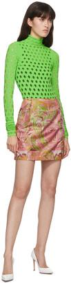 MAISIE WILEN SSENSE Exclusive Pink Call Me Mini Skirt