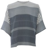 Amanda Wakeley Tokyo Printed Top With Pleated Back Detail