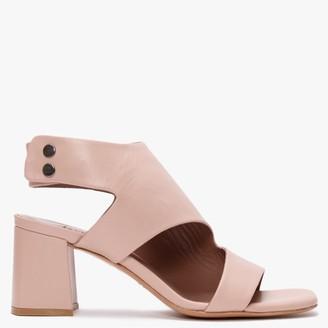 Albano Chatham Nude Leather Block Heel Sandals