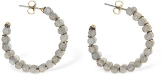 Isabel Marant Imani Beaded Small Hoop Earrings