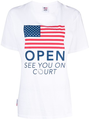 AUTRY Open crew neck T-shirt