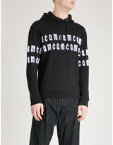 Mcq Alexander Mcqueen Logo-embroidered cotton-jersey hoody