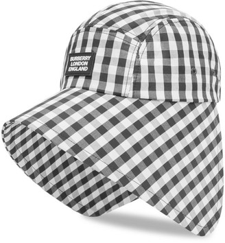 Burberry Gingham Logo Bonnet Hat