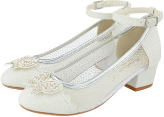 Monsoon Amelia Butterfly Sparkly Princess Shoe Silver