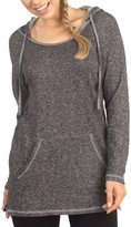Pima Apparel Women's Sweatshirts and Hoodies BLACK - Black French Terry Hooded Tunic - Women