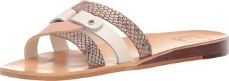 Dolce Vita Women's CAIT Slide Sandal white/multi leather 5 M US
