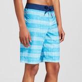 Mossimo Men's Board Shorts Textured Stripe Blue