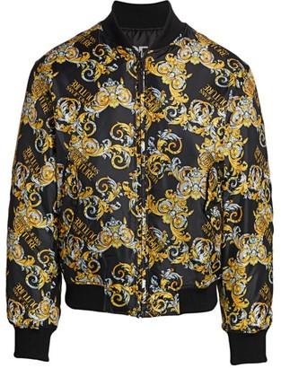 Versace Reversible Baroque-Print Bomber Jacket