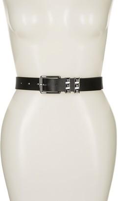 Michael Kors Pyramid Stud Leather Belt